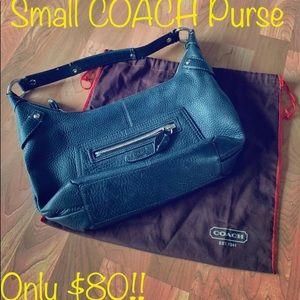 Small COACH PURSE w/ Dust Bag! GREEN LEATHER rare!